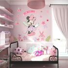 Disney Minnie Mouse Flowers Wall Sticker Baby Nursery Kids Room Art Decal Decors