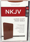 NEW Nelson Holy Bible NKJV Super Giant Print Red Letter Edition Leathersoft