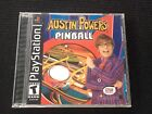 Austin Powers Pinball (Sony PlayStation 1, 2002) PS1 COMPLETE black lable