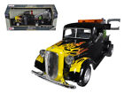 ANAA 75341 1937 Ford Tow Truck Black with Flames 1 24 Diecast Model by Motormax