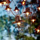 10 Count Vintage Cage Indoor Outdoor Patio Lantern String Decor Hanging Lights