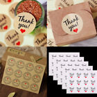 60 pcs Thank You Craft Packaging Seals Kraft Sealing Stickers Label Cute Paper