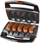Sausage Grill 5 Brats 1 Drip Tray RV Boat Tiny House Non Stick Cooking Grilling