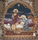 New Nativity Scene Heavy Afghan Tapestry Throw Gift Blanket Jesus Mary Christmas