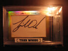 1 1-2014 Leaf TIGER WOODS CUT AUTOGRAPH SIGN.(Like Jack Nicklaus button patch)