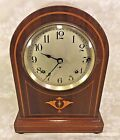 Seth Thomas Westminster Chime Mantel Clock Inlaid Wood Case Doric Model 4 Rod
