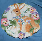 Fitz & Floyd HALCYON Canape Cookie Serving Dish Plate Easter Bunny