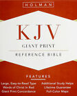 New KJV Super Giant Print Reference Bible Brown Leathertouch