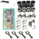Overhaul Rebuild Kit include 4 Connect Rods For Hyundai D4BH 2.5T GALLOPER BUS