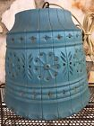 Vintage Mid Century Modern Retro Blue Plastic Swag Lamp Tiki Party Lawnware USA