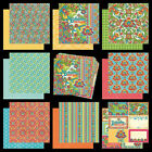 Graphic 45 Bohemain Bazaar Collection Scrapbook Paper 12x12 India Journal Tags