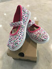 Toms Mary Jane White Canvas PINK Confetti 10 Toddler Little Girls NIB