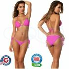 Coqueta Swimsuitt BOTTOM Push up Hot Pink Moderate Coverage Bikini Sexy SET Top