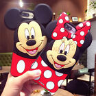 3D Cute Mickey Minnie Mouse Rugged Shockproof Soft Case Cover for Various Phones