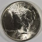 1924 PEACE SILVER DOLLAR GEM BU Lot 366