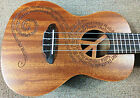 Luna Guitars Maluhia Peace Concert Ukulele PreAmp EQ Gig Bag All Mahogany