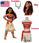 US Girls Animie Movie Polynesia princess Moana Cosplay Costume Dress halloween 1