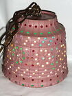 VINTAGE LAWNWARE OUTDOOR PATIO RV HANGING LAMP LANTERN COLORFUL LIGHT BEADED