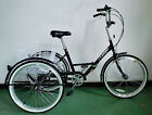 ADULTS FOLDING TRICYCLE 24 WHEELS 6 SPD SHIMANO GEARS BLACK adult tricycle