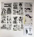 Catherine Moore Character Constructions Huge Lot Tim Holtz Clear Cling Stamp