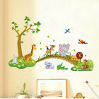 USA Wall Stickers Animals Nursery Decor Baby Kids Bedroom Art Mural Removable