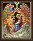Coptic Nativity of Christ 02 Canvas Icon Print FREE SHIPPING IN USA