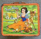 SNOW WHITE Vintage Metal Lunchbox C 6 Lunch Box Pail Aladdin 1975 Orange Rim