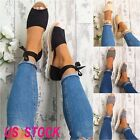 NEW WOMENS FLAT LOW WEDGE HEELS ESPADRILLES SUMMER LADIES SANDALS SHOES SIZE
