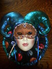 ViNTAGE CLAY ART MASK SAN FRANCISCO HAND PAINTED  COURT JESTER