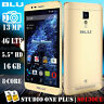 BLU Studio One Plus S0130UU Android 5.1 16GB 13MP Unlocked Phone GOLD Open Box