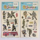 Sandylion Stickers Firefighter Soldier Army Navy Hero Lot Of 2 Sealed New