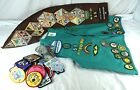 Lot of 1990s Girl Scouts Vest Sash  A Ton of Patches  Pins Maumee Valley GSA