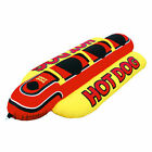 NEW Airhead 3 Person Inflatable Hot Dog Towable Banana Boat Water Sport Ski Tube