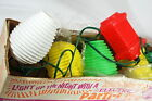 Vintage Plastic Blow Mold Patio Lights Mikado Parti Lite Lanterns Original Box