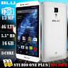 BLU Studio One Plus S0130UU Android 5.1 16GB 13MP Unlocked Phone SILVER Open Box