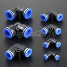 5PCS Pneumatic Push in Fitting Air Connector Hose Tube 90 Degree Elbow 4mm-16mm