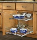 Rev-A-Shelf New wire Metal vintage 2-Tier Pull Out drawer Cabinet Kitchen Basket
