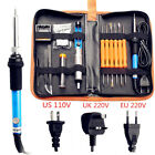 Hot US/EU Plug 60W Electric Welding Soldering Iron Tool Kit Adjustable Electric