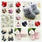 US Newborn Baby Infant Toddler Boy Girl Snow Boots Crib Shoes Prewalker Booties