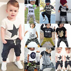 2pcs Toddler Baby Boy Kids T shirt Top Pants Trousers Outfit Set Casual Clothes
