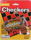 CHECKERS Game Keychain Keyring Magnetic Mini Board Retired NEW Basic Fun Doll
