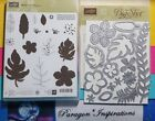 NEW Stampin UP BOTANICAL BLOOMS  BUILDER FRAMELITS Flowers Feathers Leaves
