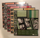 Creative Memories Perfect Fit Set of 5 Colors Mounting Paper Scrapbooking 12x12