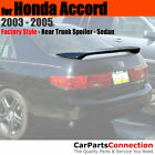 Painted ABS Rear Trunk Spoiler For 03-05 Honda Accord Sedan K1 BRIGHT SILVER
