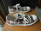 Converse Unisex Chuck Taylor Plaid Brown Pink Low Top Sneakers All Star Canvas