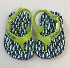 Baby GAP Infant Boys Lime Green Navy Blue Rubber Flip Flop Sandals Size 3