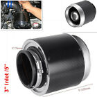 Hi Flow Air Filters For Cold Air Short Ram Intake Carbon Fiber Look 3 Inlet 5