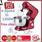 6-speed 5L Metallic Red Professional Stand Mixer 1200W DHL BA