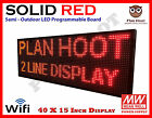 40x15 Wifi Usb Led Programmable Scrolling Sign For Semi Outdoor Indoor Use