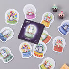 90Pcs 2Box Cute Animal Crystal Ball Mini Decoration Stickers Diary Seal Sticker